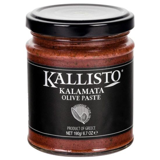 oryginalne greckie produkty - pasta z greckich czarnych oliwek