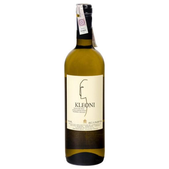 wino greckie wytrawne Kleoni białe