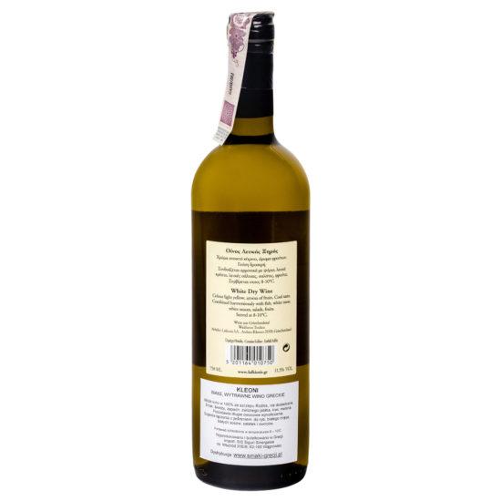 wino greckie wytrawne Kleoni białe b