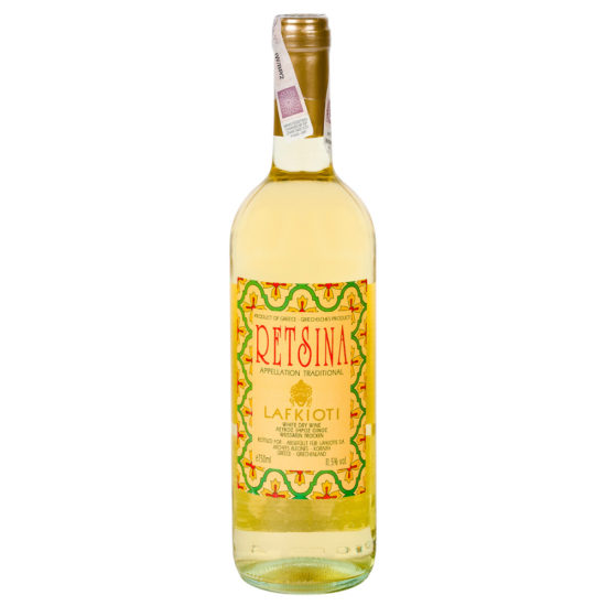 wino greckie wytrawne Retsina wz