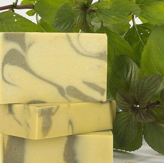 oryginalne greckie produkty - mydło z oliwą z oliwek - mydło z miętą