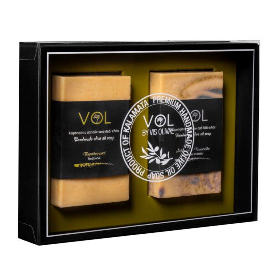 Zestaw prezentowy vol mydła z oliwą z oliwek, klasyczne i z lawędą