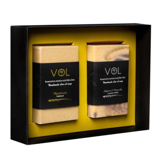 Zestaw prezentowy vol mydła z oliwą z oliwek, klasyczne i lawendowe
