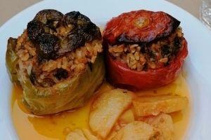 Przepis na grecki obiad, Gemista - warzywa nadziewane ryżem